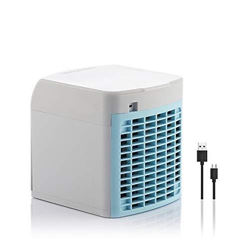 Condizionatore Portatile -3-in-1 Mini Raffrescatore Evaporativo Umidificatore Purificatore d Aria [ Senza Freon] USB Climatizzatore con Raffreddamento ad Acqua per Casa Ufficio Camper Garage (1#)