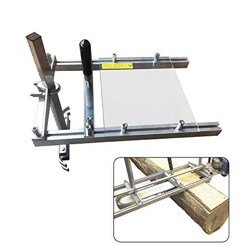YIYIBY Chainsaw Mill Mobiles Sägewerk Holz Sägehilfe Kettensäge Motorsäge Mühle Aluminium Stahl Schweißen Sägewerk (für 14'' bis 20'')
