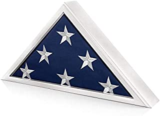 SmartChoice Honors Memorial Flag Display Case for Burial and Presentation Flags, American and Foreign Military Service Commemoration, 5x9 Feet (White)