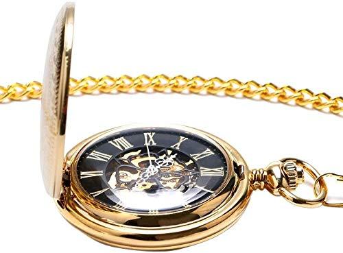DSHUJC Zakhorloge Gift Gouden zakhorloge Vintage hanger Horloge ketting ketting Antieke Fob horloges Romeinse nummer klok zak