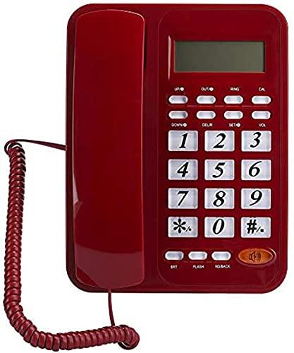 HJYUIK Teléfono Fijo, condensado con discapacidad Fija Botón Grande con discapacidad, Teléfono de Big Big, clásico Inicio Inglés Oficina Teléfono Phone Teléfono, Escritorio Equipo de comunicación