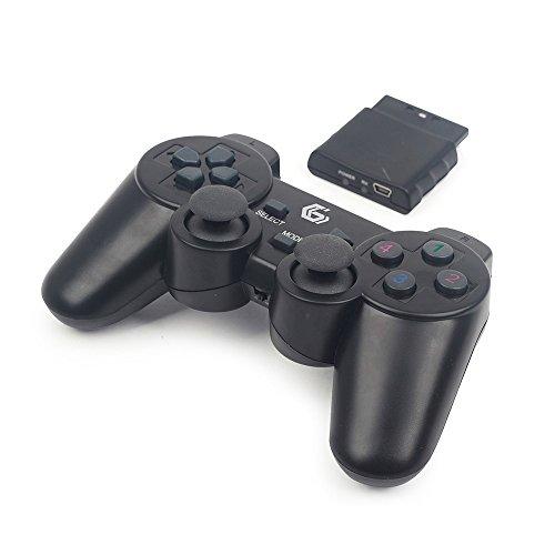 Gembird JPD-WDV-01 Kabelloses Gamepad mit Vibration, PS2/PS3/PC schwarz