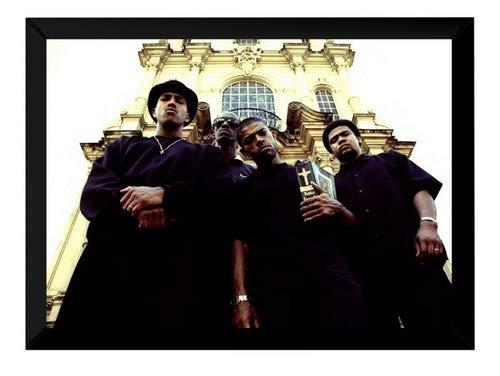 Quadro Racionais Mcs Rap Hip Hop Foto Poster Moldurado