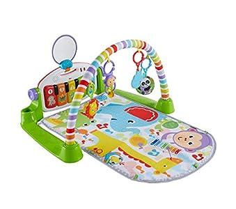 Fisher-Price Gimnasio Piano Pataditas superaprendizaje, manta de juego para bebé recién nacido (Mattel GXC37)