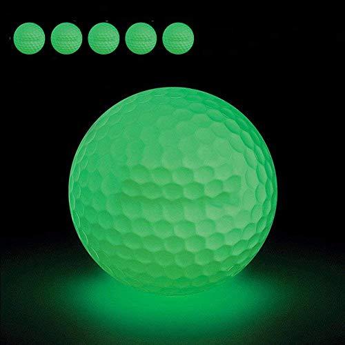 FHD 6 Piezas Pelotas de Golf Nocturnas, Pelota de Golf Fluorescente Luminosa para Torneos con Mejor Golpe, SIN LED en el Interior Golpea la Pelota más de 1000 Veces (6)