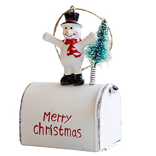 Rosixehird 5 Piezas De Adornos para Colgar Árboles De Navidad- Buzón De Santa Colgantes para Colgar De Navidad Adornos para Árboles De Navidad Colgantes para Puertas Y Ventanas con Cuerdas Decoración