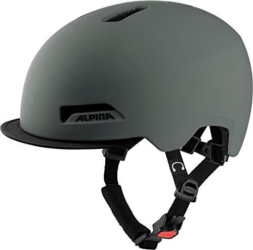 ALPINA Unisex - Erwachsene, BROOKLYN Fahrradhelm, coffee-grey matt, 57-61 cm