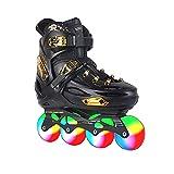 Patines en línea ajustables para niños y adultos, patines Outdoo para mujeres con todas las ruedas iluminadas, patines agresivos para niñas y niños, patines para hombres y mujeres