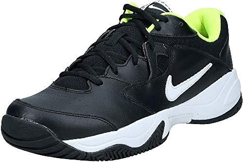 Nike Court Lite 2, Chaussure de Tennis Homme, Noir/Blanc-Volt, 45 EU
