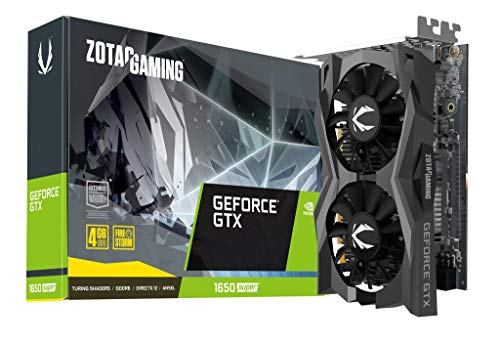 ZOTAC Gaming GeForce GTX 1650 Super Twin Fan 4GB GDDR6 128-Bit Gaming Graphics Card, Super Compact, Zt-T16510F-10L