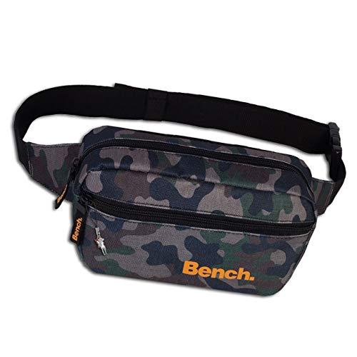 Bench sportliche Gürteltasche Camouflage olivgrün Bauchtasche Tarnmuster Polyester 23x13x6 D1OTI300F Polyester Tasche von Bench für die Frau