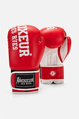 Boxeur Des Rues BXT-5127 - Guantes de boxeo, Rojo, 12OZ