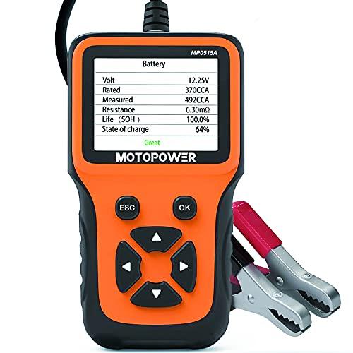 MOTOPOWER MP0515A 12V Testeur de charge de batterie de voiture et analyseur d'alternateur