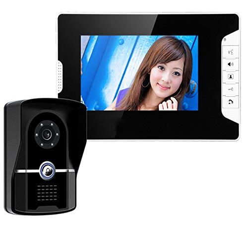 TL Funk-Türklingel, Multifunktionale Freisprech Intercom-Funktion 7-Zoll-TFT-LCD-Monitor-Farbeinstellung Für Home-Office