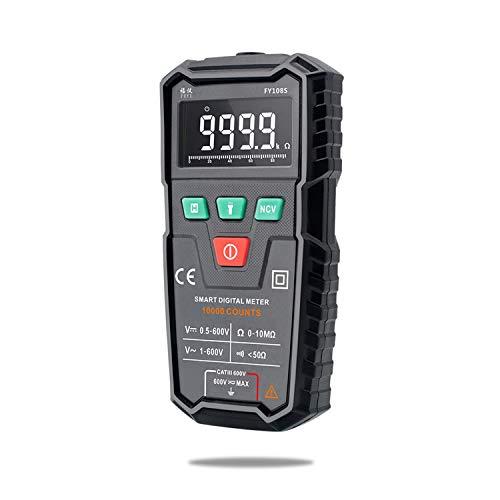 Multímetro de electricista Multímetro digital FUYI FY108S 9999 Condes multímetro Mini medidor universal de verdadero valor eficaz automática medir la corriente AC DC Tensión / Para pruebas eléctricas