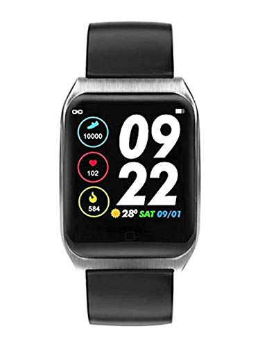 OPTA Leather SB-151 Interamnia Bluetooth EcgPpg Sensor and Heart Rate Sensor Smart Band and Fitness Tracker for All Android/iOS MobileMedium (Black)