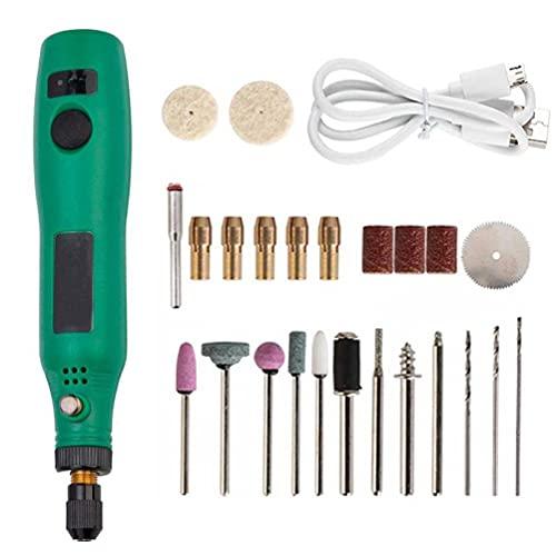 Herramienta rotativa inalámbrica Mini Rotary Multi-Herramienta del Kit de Accesorios eléctricos Amoladora de 24pcs Pulido Limpieza de Grabado