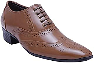 BXXY TAN Height Increasing LACE-UP British Full Brogues