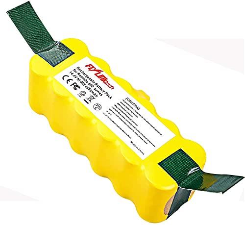 Flylinktech Batteria Roomba 14.4V 4500mAh NiMH Batteria per iRobot Roomba aspirapolvere 500 600 700 800 900Series