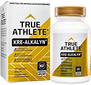 True Athlete Kre Alkalyn 1,500mg Helps Build Muscle, Gain Strength Increase Performance, Buffered Creatine NSF Certified f...