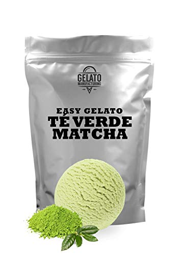Mezcla liquida cremosa con todos los ingredientes necesarios para obtener un helado artesano de calidad Base mix para helado de TÉ VERDE MATCHA (1.4 kg mix + 2.6 lt leche = 5.5 litros de helado) Ingredientes 100% naturales SIN TRANS FAT (sin grasas h...