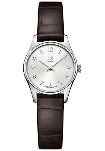 Calvin Klein Damen-Armbanduhr Analog Quarz Leder K4D231G6