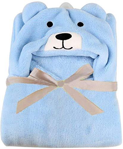 Famyfamy Manta Para Bebé Recién nacido Unisex Cómodo Seguridad Abrigo Del Bebé Abrigo Tipo Manta Saco De Dormir para silla de paseo Cuna 96 x 76 cm 37.8 x 30 Inches - Azul, 96 x 76cm