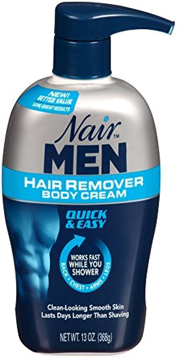 ハードリング逃す提出するNair Hair Remover Men Body Cream 385 ml Pump by Nair