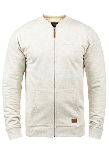 Blend Arco Herren Sweatjacke Collegejacke Cardigan Jacke Mit Stehkragen, Größe:M, Farbe:Sand Mix (70810)
