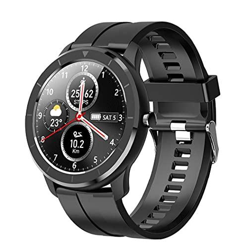 Smart Watch Smart Armband.Smart Uhr Sport Fitness Tracker Wasserdichte T6 Voller Touchscreen Armbanduhr Armband Herzfrequenz Blutdruckerkennung Schwarz