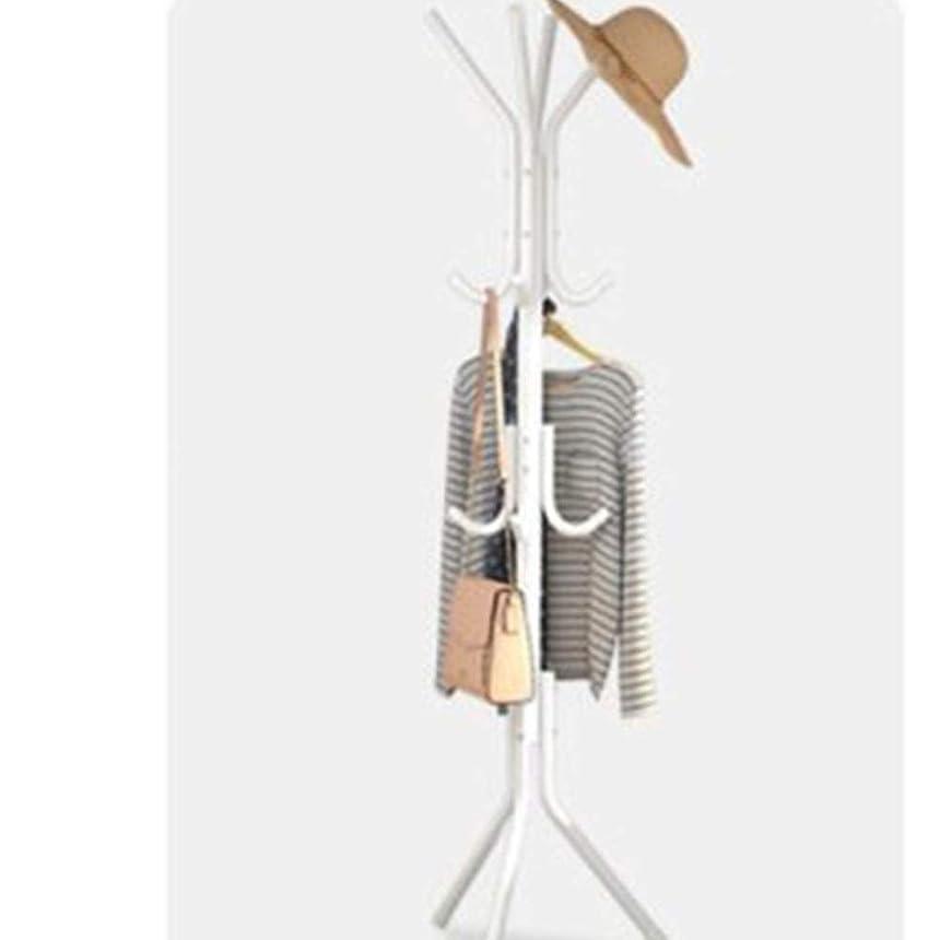野望存在スリムハンガーラック コートハンガー コー シンプルなコートラックフロアハンガー創造的な服ラック寝室の棚ホワイエストレージ錬鉄製ハンガー 洋服掛け コート掛け 収納ラック 衣類ハンガー (色 : B, サイズ : Free Size)