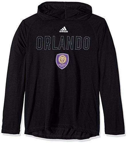 adidas Base Ultimate L/S - Camiseta con Capucha para Hombre, MLS, Hombre, Color Negro, tamaño Small