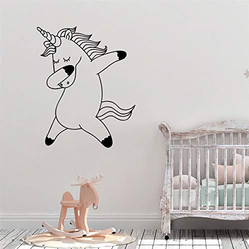 PVC-Pegatinas de pared-Unicornio lindo arte de la pared vinilo vinilo decoración del hogar mural cartel jardín de infantes habitación de los niños extraíble etiqueta de la pared etiqueta de la pared