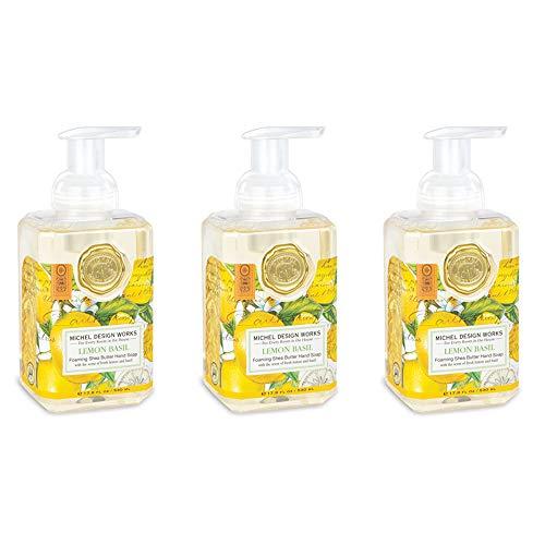 Michel Design Works Foaming Hand Soap, 17.80-Fluid Ounce, Lemon Basil - 3-PACK