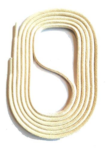 SNORS gewachste Schnürsenkel RUND CREME VANILLE 60cm, 2mm, reißfest, Rundsenkel aus Baumwolle Made in Germany für Lederschuhe, Herrenschuhe, Business-Schuhe, Anzugschuhe, Damenschuhe