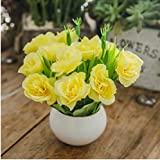 xgruisi Fleur Artificielle Fleurs Artificielles Et Vases Décoration De La Maison Rayon Bouquet De Roses Jardin De Bricolage (19Ème Couleur)