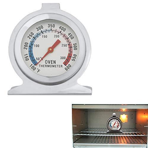 XGQ Hochwertiger Edelstahl Stand Up Backofenthermometer Manometer (0-300 Grad Celsius) (Silber)