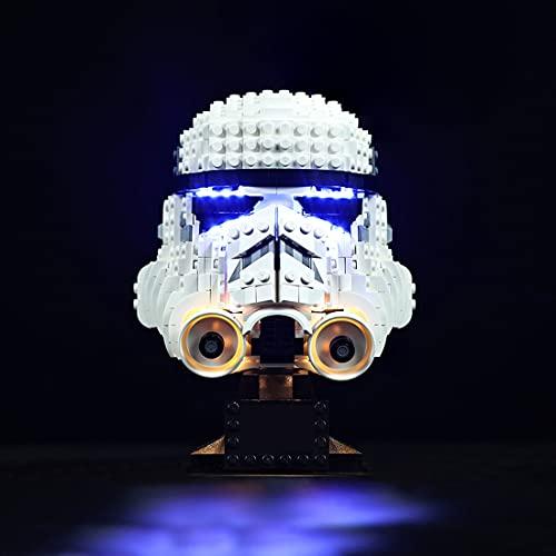 SEREIN Kit de iluminación LED para Lego Star Wars Casco de Stormtrooper, Juego de luces compatible con Lego 75276 Bloques de Construcción- (Solo luz LED)
