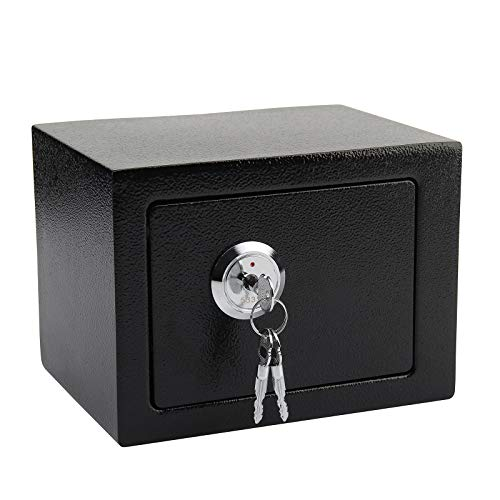 Shoze Key Operated Strong Steel Small Value Safe Security Money Cash Safe Box Home Hotel Office UK