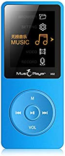 COODIO Portable Ultrathin HiFi MP3 M Player Radio FM Recording E-Book Folder Walkman Speaker Blue 8GB