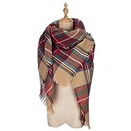 VIISHOW Winter All-match Warm Plaid Blanket Best Gift Scarf Oversized Shawl Cape