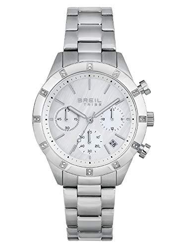 Breil - Reloj de mujer Dazzle, esfera monocromática, movimiento de cuarzo y pulsera de acero EW0519