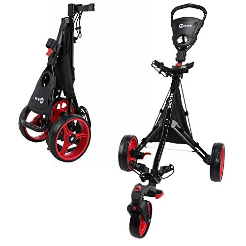 of paragon golf carts RAM Golf Push/Pull 3-Wheel Golf Cart with 360 Degree Rotating Front Wheel for Ultimate Agility