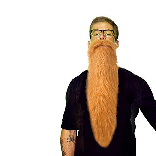 ZZ Style Lumberjack Hillbilly Long Costume Beard & Mustache Set (Blond)