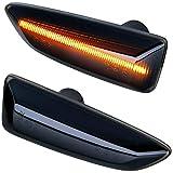 phil trade Intermitente Lateral LED Compatible con Astra J K Insignia B Zafira C, Color Negro [71012-1]