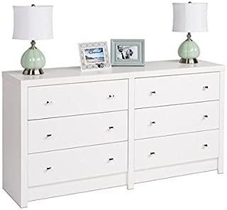 BOWERY HILL 6 Drawer Dresser in White