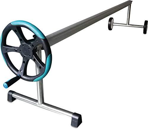 well2wellness® Pool Aufrollvorrichtung Roll-Away Deluxe 4,0-6,0 m für Abdeckplanen und Solarplanen