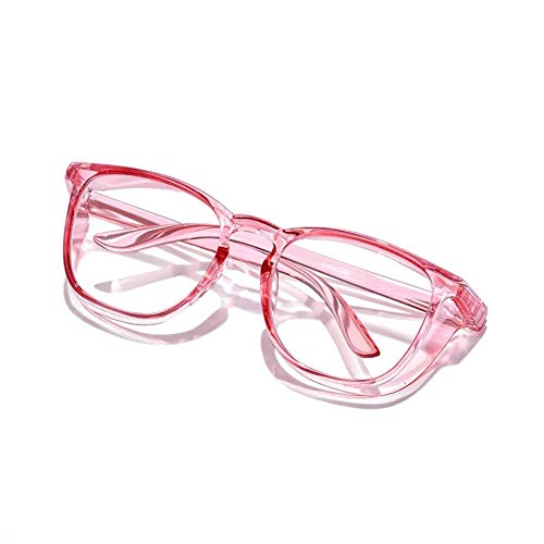 Yisss Gafas de Seguridad Anti-Niebla y Anti-Saliva para Hombres y Mujeres, Vasos Azules Anti-Polen con Escudos Laterales, Rosa/Verde/Transparente/Gris/Azul, Regalos para el día de la Madre