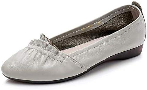 FLYRCX Chaussures de Travail en Cuir Chaussures à Semelle Souple Pointues Mode Chaussures Confortables antidérapantes