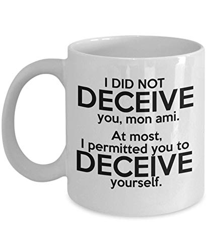 Agatha Christie Taza con texto en inglés 'I did not engenive You, mon ami, Cozy Mysteries Lover, 11 taza de café (325 ml)